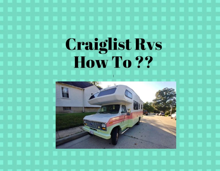 How to find used Rvs for sale by owner on Craigslist ?