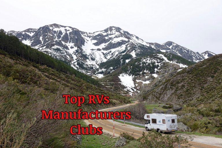 Top 15 RVs Manufacturers Clubs